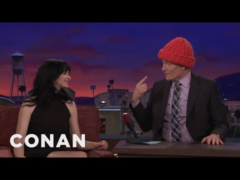 Krysten Ritter Knit Conan A Hat   CONAN on TBS