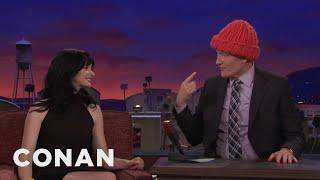 Krysten Ritter Knit Conan A Hat  - CONAN on TBS