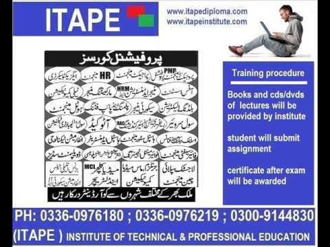 certificate Textile , Fashion Media , Information Technology, Civil Surveyor,  , Safety Officer,