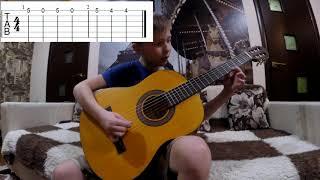 В траве сидел кузнечик на гитаре+разброр,табы