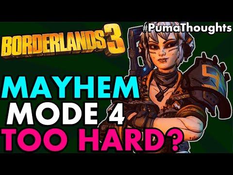 IS MAYHEM MODE 4 TOO HARD for Solo Play? Borderlands 3 Wotan/Maliwan Blacksite Update #PumaThoughts