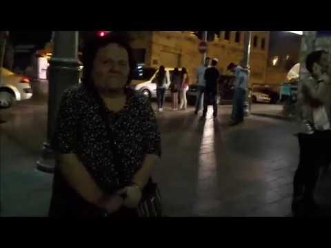 Jerusalem Jewish woman spits on USA Street Preacher