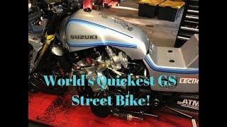 Must Hear Sound of World's Quickest Suzuki GS Street Bike! Wow!