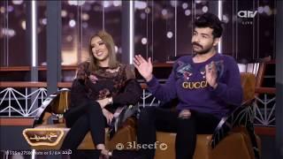 لقاء  فرح الهادي وعقيل الرئيسي في برنامج ع السيف بعد خطبتهما