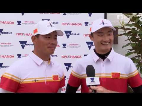 2016 ISPS HANDA World Cup of Golf - Team China Rd 4 Best shots & interview