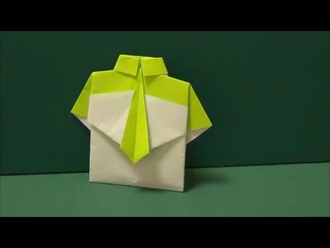 YouTube Origami Shirt