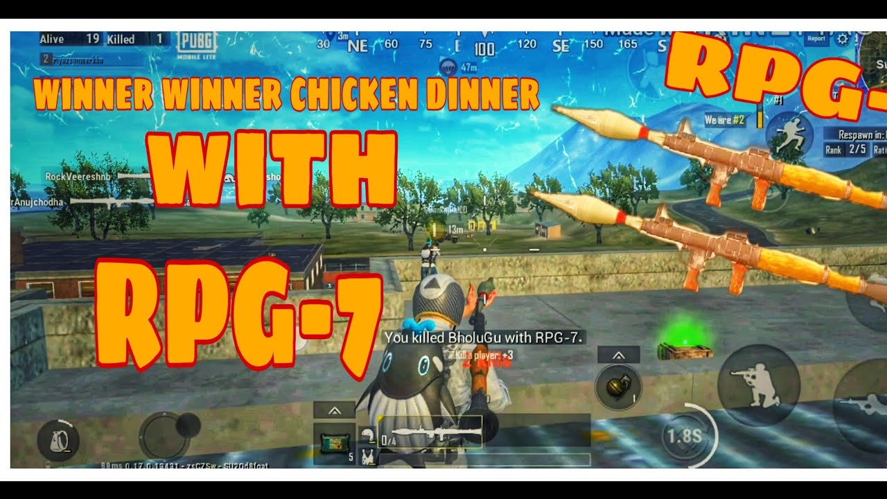 CHICKEN DINNER WITH RPG| BADOOKA IN PUBG | PUBG MOBILE LITE