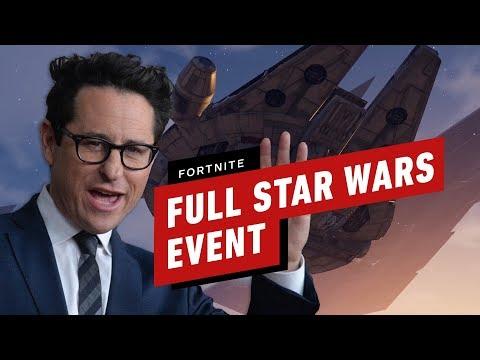 Full Fortnite Star Wars Event (J.J. Abrams, Trailer and Lightsaber Gameplay)