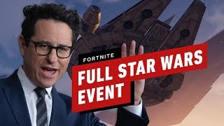 Full Fortnite Star Wars Event (J.J. Abrams, Trailer and Lightsaber Gameplay)