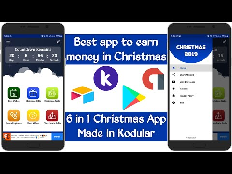 क्रिसमस में पैसे कमाने के लिए सबसे अच्छा ऐप | 6 in 1 Christmas app made in Kodular | Tech Developer