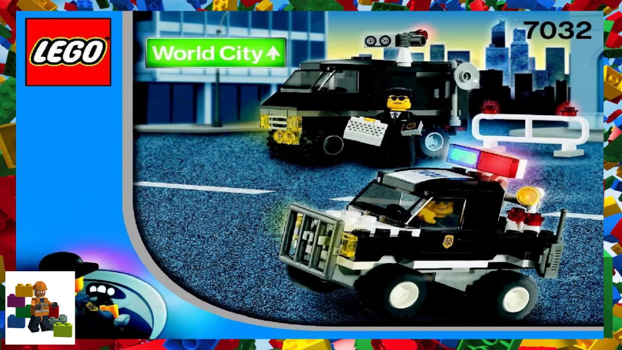 Lego Instructions World City Police And Rescue 7032 Police