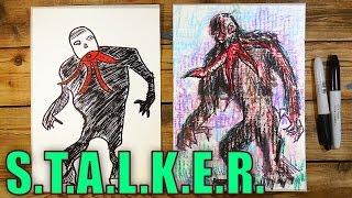 Рисуем Монстра Кровососа из S.T.A.L.K.E.R.(Ваня любит видео игру Сталкер и мы решили сделать серию рисунков и роликов на тему Сталкера. Мы рисуем на..., 2016-01-19T14:07:59.000Z)