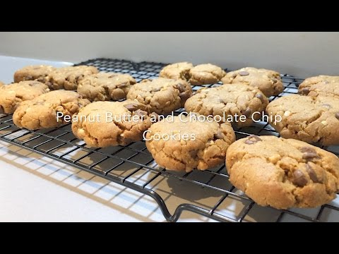 Peanut Butter and Chocolate Chip Cookies Gluten Free