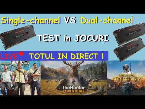 Memoria Ram - Single-channel VS Dual-channel-TEST in JOCURI