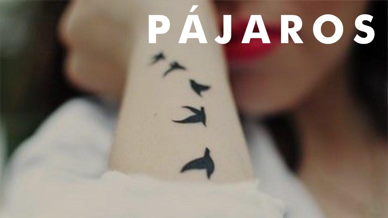 Pequeños Tatuajes De Varios Pájaros Volando Youtube