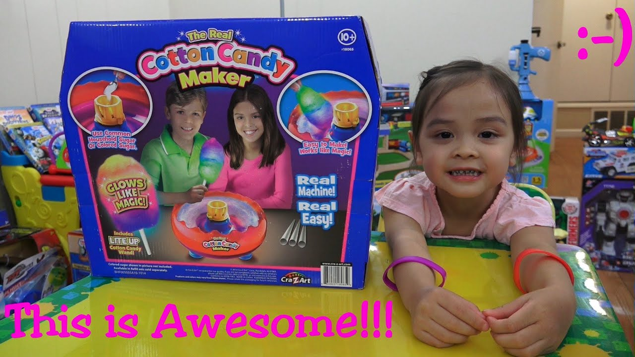 Awesome Toy for Kids and Families A Cotton Candy Maker Machine