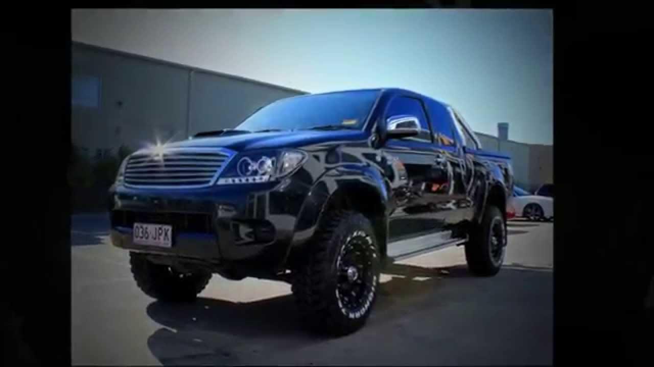 Toyota Hilux 16 Inch Custom Rims 16x8 Kmc Hoss Black Wheels