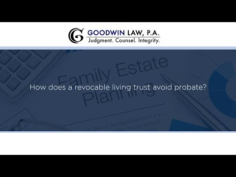 How does a revocable living trust avoid probate?