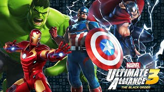 Ultimate Alliance Extreme Attack by Iron man, Hulk, Thor and Capt. vs Electro and Venom