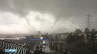 Tornado verwoest huizen in Luxemburg