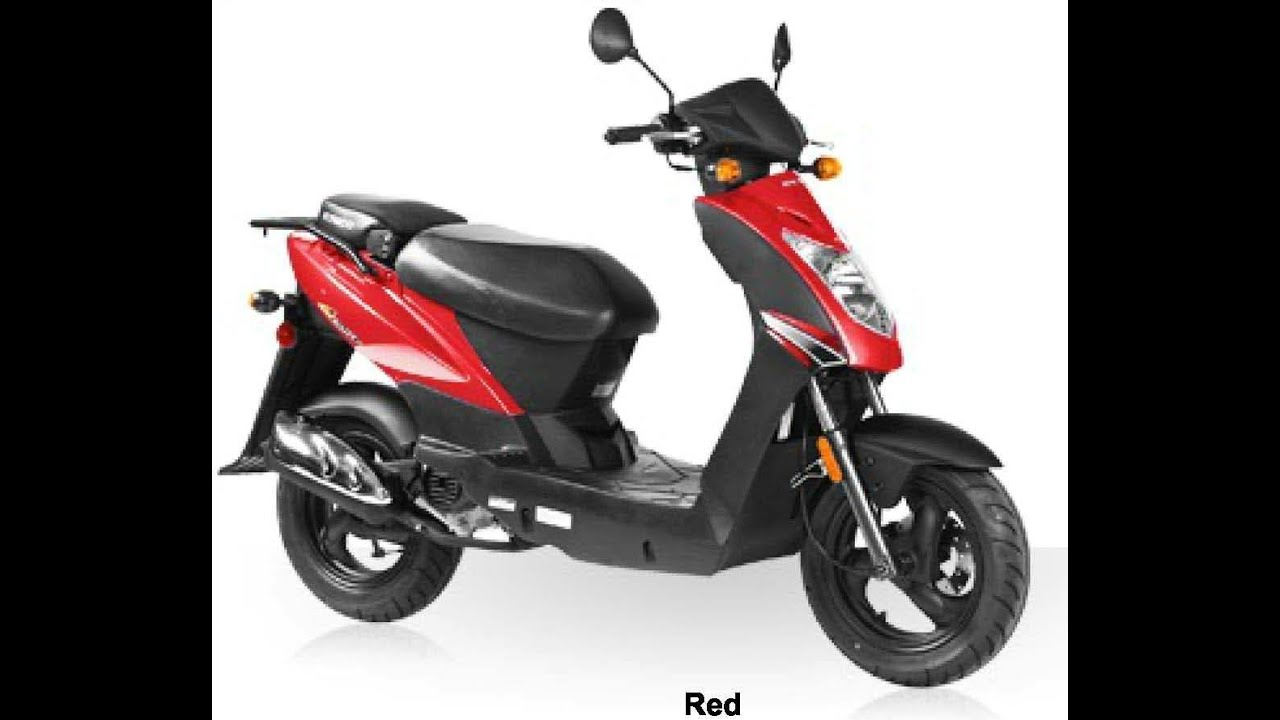 kymco agility 50 4t red 49cc scooter youtube. Black Bedroom Furniture Sets. Home Design Ideas