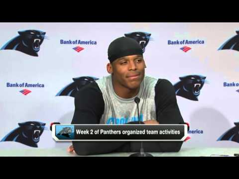 Carolina Panthers QB Cam Newton Gets Videobombed By Jordan Gross at Press Conference