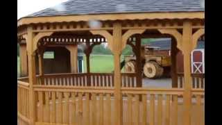 Oval Wooden Gazebo | Ottawa Gazebo Builders | Custom Gazebos | Belleville Gazebos