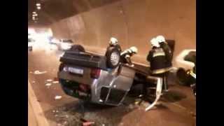 """Prometna nesreća u tunelu """"Sv. Kuzam"""" / Snimio Silvano JEŽINA"""