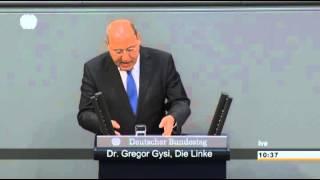 Gregor Gysi, DIE LINKE: »Herr Schäuble, Sie sind dabei, die europäische Idee zu zerstören«