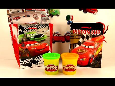 Coches de juguete Cars 1 y 2 Rayo Mcqueen Sorpresas PlayDoh