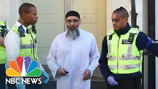 Extremist Preacher Anjem Choudary Greets The Media After Release From U.K. Prison | NBC News