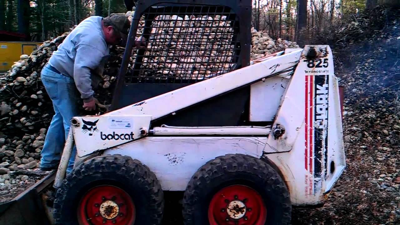 bobcat 825 hydro coldstart youtube. Black Bedroom Furniture Sets. Home Design Ideas