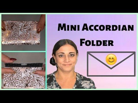 MINI ACCORDIAN FILE FOLDER   DIY   PAPER CRAFTING
