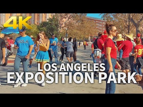 LOS ANGELES - Exposition Park, Los Angeles, California, USA, Travel, 4K UHD