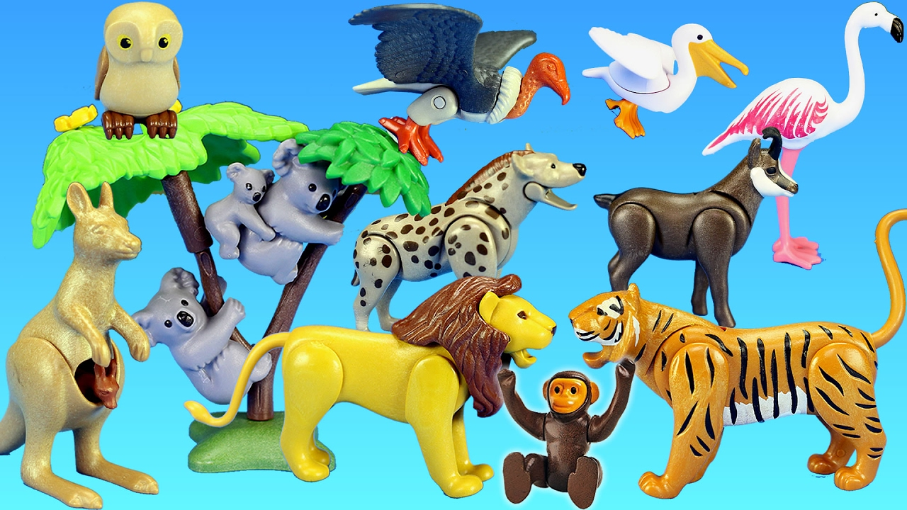 playmobil wild animals toy collection for kids animals