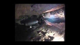 underwater cave exploration