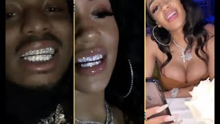 Quavo Gets Saweetie Matching Diamond Grills On Valentine's Day