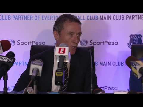 Everton and SportPesa press conference in Tanzania