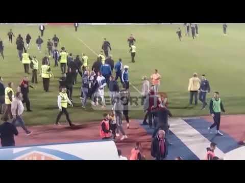 Report Tv-Incident në ndeshjen Tirana-Kukësi