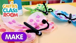 Make a Tissue Paper Butterfly Craft! | Caitie's Classroom