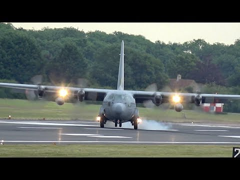 Lockheed C-130H-30 Hercules from the Netherlands Air Force arrvial at RIAT 2017 AirShow