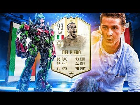 OMG OPTIMUS PRIME DEL PIERO! 93 PRIME ICON MOMENTS DEL PIERO! FIFA 19 Ultimate Team