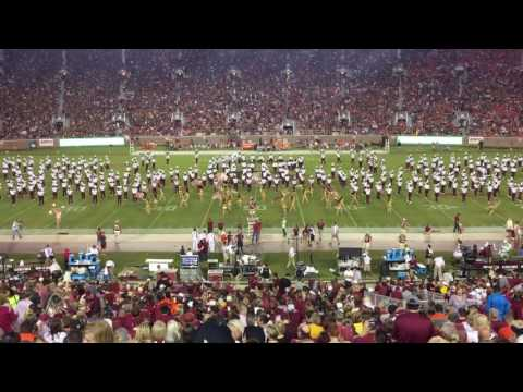FSU Marching Chiefs halftime show - Music of Queen - Florida state university VS. Clemson 10/29/16