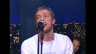 Coldplay - In My Place (Letterman December 2002)