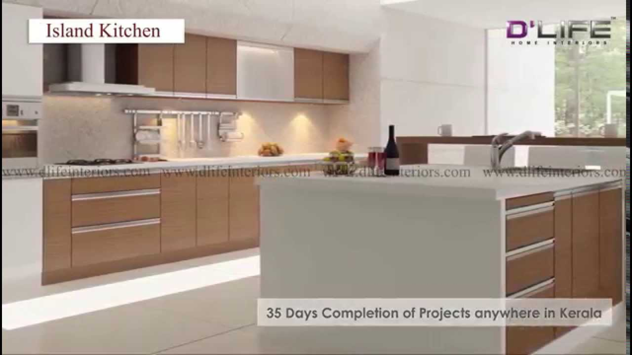Modern Kitchen Interior Design With Accessories D Life Home Interiors Kerala Bangalore Youtube