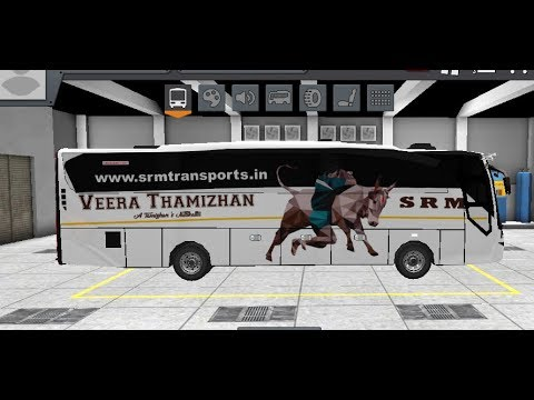 ✴️Tamilnadu SRM Veera Tamizhan Bus in Android Game BUSSID - Indian Bus  Livery[PCR GAMEPLAY]Links⤵️