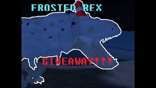 Frosted Rex GIVEAWAY! [CLOSED READ DESC] ~ Dinosaur Simulator ROBLOX