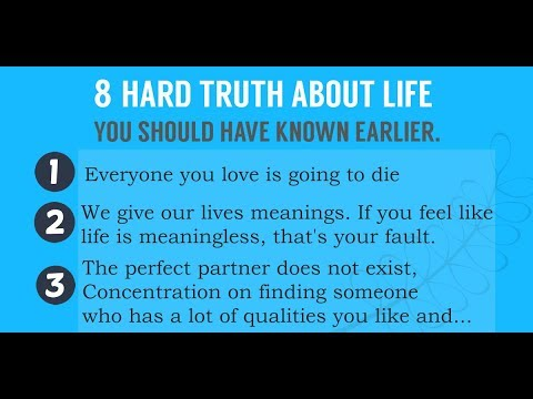 8 Hard Truths to Embrace Early on for a Better Life