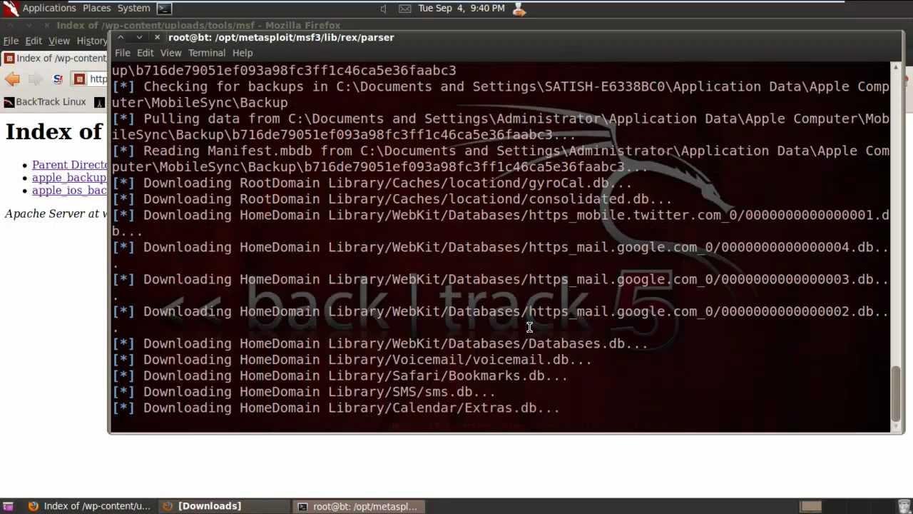 Stealing iPhone Backups using Metasploit – SecurityXploded Blog