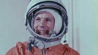 Юрий Гагарин: Первый полёт человека в Космос!(12 апреля 1961 года космонавт Юрий Гагарин совершил первый в мире полёт в космос. Старт ракеты Восток-1 с челов..., 2016-04-12T08:00:00.000Z)